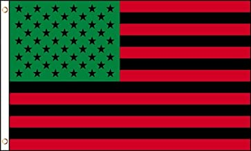ALBATROS Afro American Flag 3 ft x 5 ft African American Black Lives Matter US USA Red Green for Home and Parades, Official Party, All Weather Indoors Outdoors
