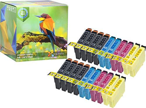 Ink Hero – Cartucho de tinta refabricado para usar en lugar de Epson 18XL (Negro, Cian, Magenta, Amarillo, pack de 20)