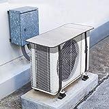 LECDDL エアコン 室外機 カバー 直射日光 温度上昇 抑える 猛暑 日よけ 遮熱 節電 省エネ ベルトで固定