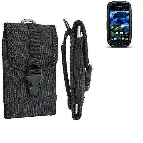 K-S-Trade® Handyhülle Für Kyocera Torque Gürteltasche Handytasche Gürtel Tasche Schutzhülle Robuste Handy Schutz Hülle Tasche Outdoor Schwarz