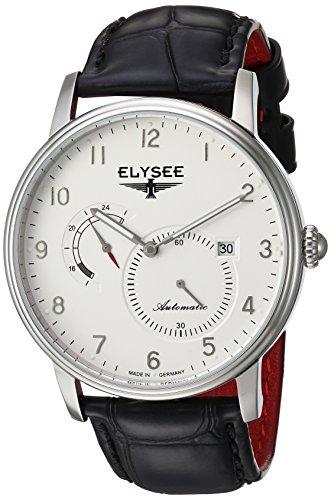 Elysee Herren-Uhr Priamos edles Design Quarzuhrwerk mit hochwertigem Lederarmband