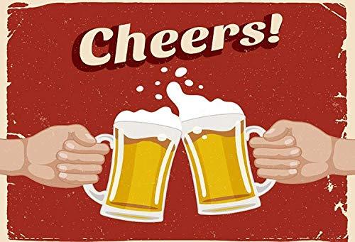 Sary Buri Cheers! Proost. Wandkunst garage club bar decoratie