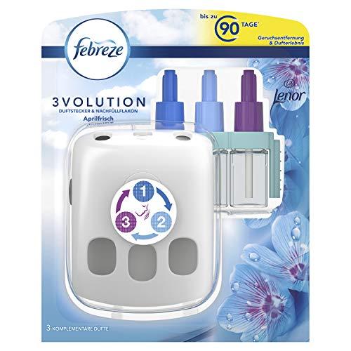 Febreze 3Volution Duftstecker (20 ml) Lenor Aprilfrisch, Starterset, Raumduft und Lufterfrischer