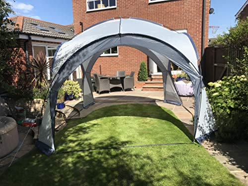 Garden Gazebo Dome Shelter Party Tent UV Protection 4 Removeable Mesh Walls, 2 Removeable Sun Shade Walls Measures L355 x W355 x H240
