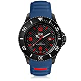 Ice-Watch - Ice Carbon Black Blue - Montre Bleue pour Homme avec Bracelet en Silicone...