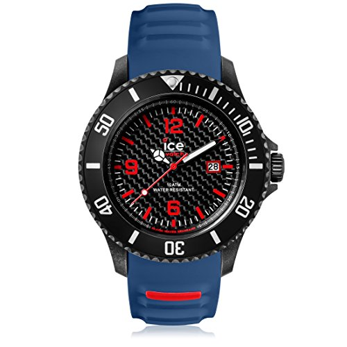 Ice-Watch - ICE carbon Black Blue - Men's wristwatch with silicon strap - Chrono - 001317 (Extra large)