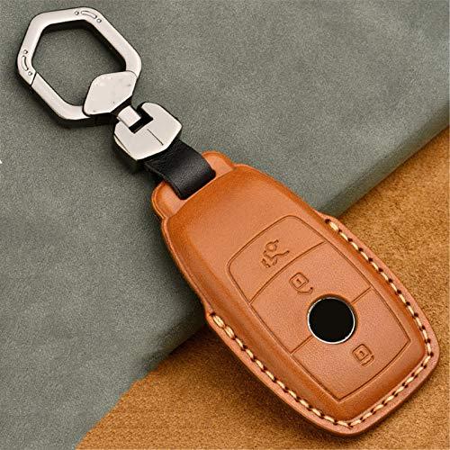 meDKO Funda de Cuero para Llave remota de Coche, para Mercedes Benz ACESG GLS CLA Class W213 W177 W205 W222 X167 W177 AMG Accesorios