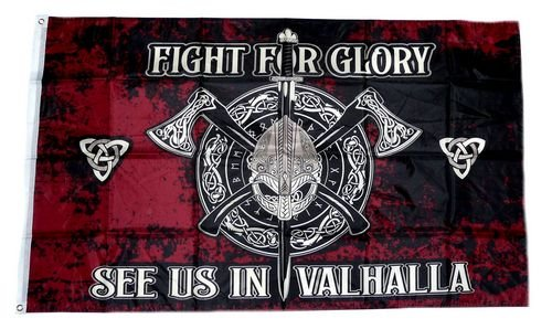 Fahne/Flagge Wikinger Fight for Glory Valhalla 90 x 150 cm