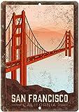DGBELL San Francisco California Signe d'étain Vintage rétro Plaque de Fer Peinture Avertissement Avis rétro Affiche café Bar Film