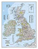 National Geographic: Britain and Ireland Classic Wall Map (23.5 x 30.25 inches) (National Geographic Reference Map)