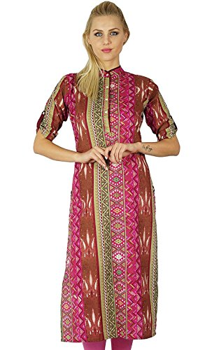 Bimba Women Cotton Kurta Ethnic Indian Kurtis Indische traditionelle Chic Formal Tunika