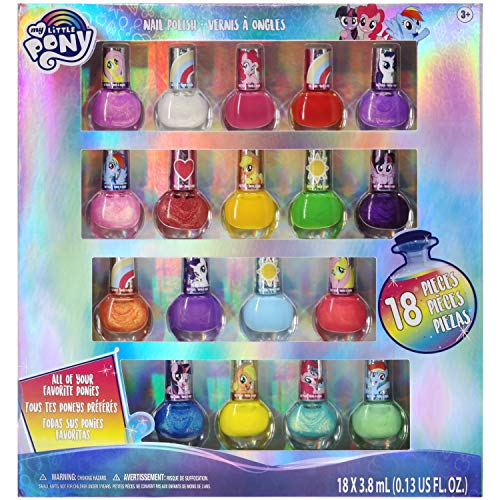 My Little Pony - Townley Girl Ensemble de vernis à ongles non toxique à base d'eau avec couleurs scintillantes et opaques pour filles, enfants, adolescents, tout-petits à partir de 3 ans