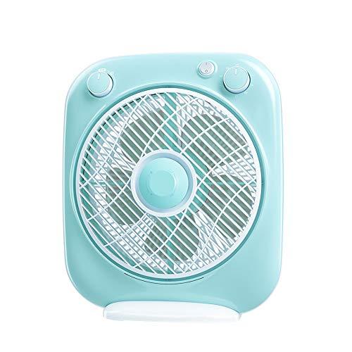 HANSHAN Ventilador de Mesa Ventiladores de Tabla portátiles, 4 Ajuste de Velocidad, 120 Minutos Temporizador, 1,5 Metros de Cable eléctrico, Zona Fan Box, for Viajar, Acampar