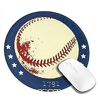 マウスパッド 円形 かわいい オフィス最適 野球 運動 星 ボールゲーミング エレコム 防水性 耐久性 滑り止め 多機能 おしゃれ ズレない 直径20cm