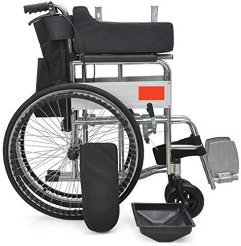 IREANJ Silla de ruedas portátil ligera del viaje de las sillas de ruedas, silla de ruedas plegable asentada ancianos