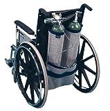EZ-ACCESS EZ-ACCESSORIES Wheelchair Dual Oxygen Tank Carrier for D & E Cylinders