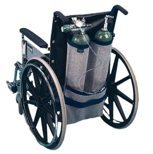 EZ-ACCESS EZ-ACCESSORIES Wheelchair Dual Oxygen Tank Carrier for D & E Cylinders