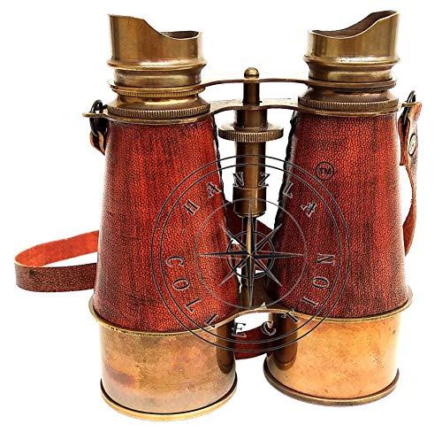 Hanzlacollection Antik Messing Fernglas ~ Nautisches Messing Teleskop ~ Piraten Spyglass Leder Fernglas Geschenk
