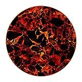 Posavasos para Bebidas Textura de Magma Redondo Portavasos Juego de 6 Cuero Decorativo Coaster Creativa Posavasos Set de Regalo 11x11 cm
