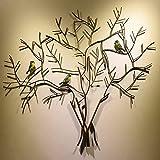 LHGXQ-Dp Árbol De La Vida Arte Pared Metal, Entrada Hierro Forjado Colgante Pared Silueta Pared 3D, Decoración De Pared Fondo De TV Colgante Pared Escultura Árbol,As Shown,95 * 90CM