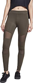 Urban Classics Damen Leggings Tech Mesh Yoga-Fitness-Hose, lange Streetwear- & Sporthose mit Netzeinsätzen in vielen Farben, Größen XS - 5XL
