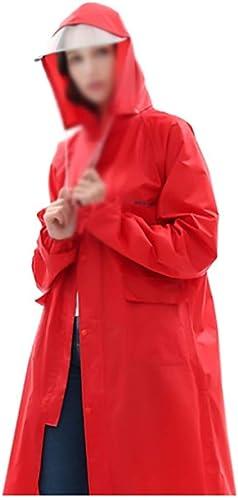 Yuany Poncho Coupe-Vent Coupe-Vent Coupe-Vent à Capuche en Plein air avec Capuchon pour Femmes épaisses pour Femmes épaisses (Couleur  Rouge, Taille  XXXXL)