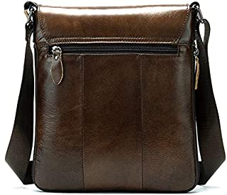 Men's Cowhide Shoulder Bag Genuine Leather Crossbody Bag for Men JAUROUXIYUJINn (Color : Coffee)