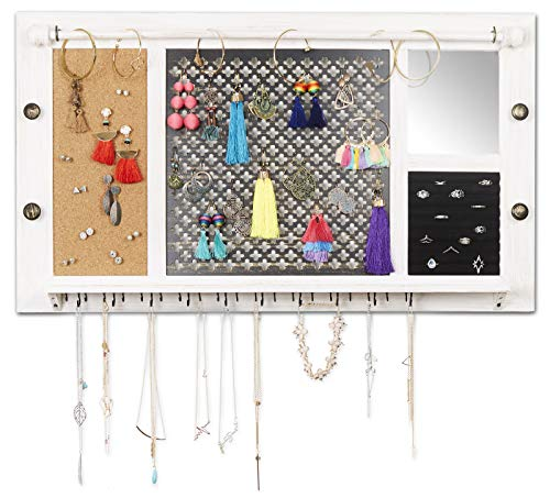 SoCal-Buttercup-RDeluxe-Rustic-Wood-Jewelry-Organizer-from-Hanging-Wall-Mounted-Wooden-Jewelry-Display-Organizer-for-Earrings-Necklaces-Bracelets-Studs-and-Accessories