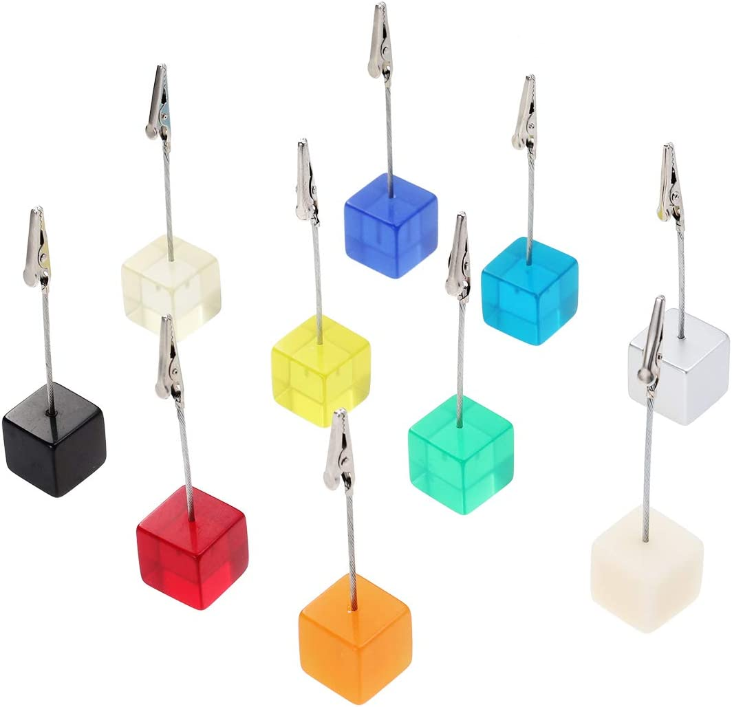 Garneck 10pcs Clip Photo Max 70% OFF Holders Cube Resin C Card Memo OFFicial Picture