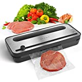Vacuum Sealer Machine YISSVIC Automatic Vacuum Sealing System with Starter Roll, Stainless Steel