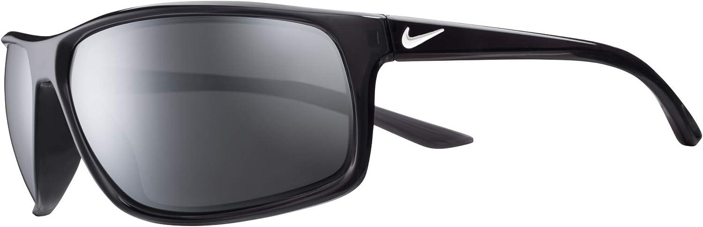 Nike Men's Adrenaline Polarized Rectangular Sunglasses, Anthracite/White, 66 mm