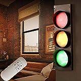 Estilo industrial retro barra creativo restaurante tráfico semáforo hierro forjado ingeniería vidrio led señal de interior luz de pared luz de advertencia luz de seguridad rojo verde luz de pared