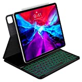 iWALK Keyboard Case for iPad Pro 12.9(3rd and 4th Gen-2018/2020) Magnetic Attachable Folio Keyboard Case with Pencil Holder,Backlit,Affordable Alternative for Apple Smart Keyboard and Magic Keyboard