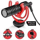 JOBY Wavo Mobile - Micrófono Compacto para Cámara con Adaptador Rycote, Tapa Deadcat para...