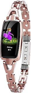 iSTYLE - Reloj de pulsera para mujer con pantalla a color de 0,96 pulgadas, monitor de frecuencia cardíaca, pulsera inteligente con contador de calorías
