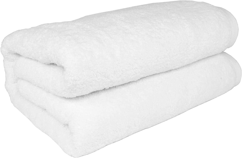 SALBAKOS Turkish Cotton Oversized Bath Sheet - Extra Large Bath Towels - XL, Toallas De Baño | Bano Grandes, 40 by 80 Inch, White