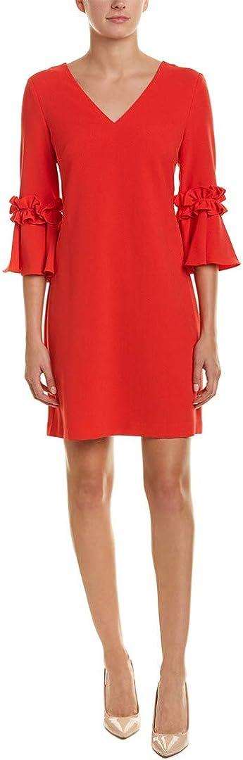 Jessica Howard Women's Bell Sleeve V-Neck Shift Dress