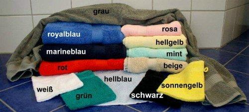 Premium Frottee Saunatuch royalblau Größe 70 x 180 cm, 450 Gramm Qualität, 100 % Baumwolle, verschiedene Farben zur Auswahl