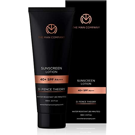 The Man Company Sunscreen Lotion SPF 40 PA+++ for Daily Use  Sunburns, Detan, Oil Free, Non Sticky - 59ml
