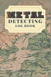 """Metal Detecting Log Book : Metal detector lined& Dotted Grid Journal. Size 6""""X9"""" 132 pages.: record date/location/metal detector machine used/settings/items found and notes (Map cover set)"""