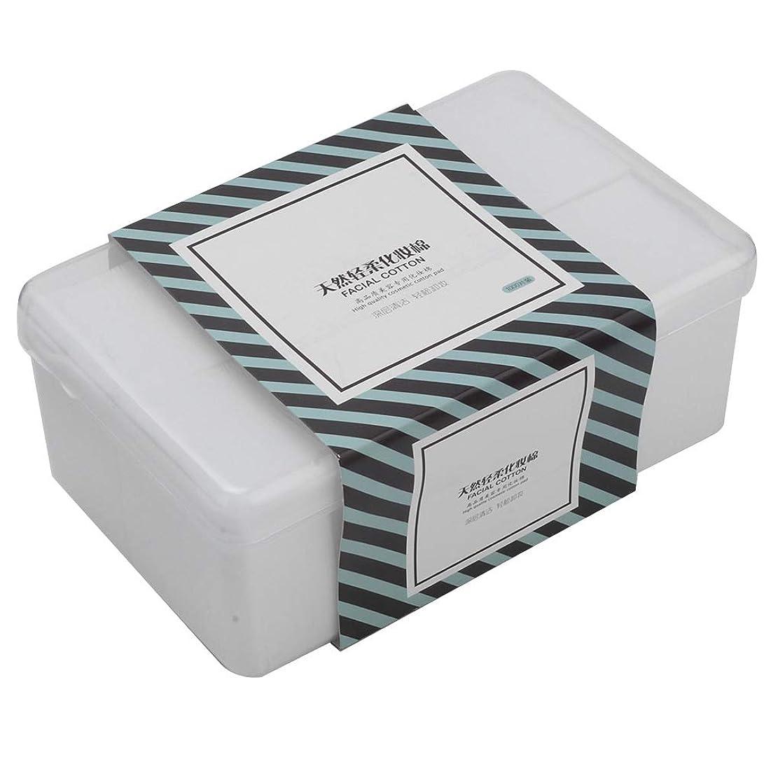 便利さびっくりゴミ箱1000Pcs /箱の構造の綿パッド、構造の除去剤のスキンケアのための顔の清潔になる綿および他の事は拭きます