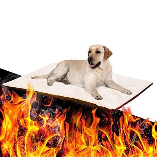 DHYBDZ Cama para Mascotas con Calentamiento automático, Felpa Suave y cómoda para Animales, Manta más cálida de Invierno para Gatos, Perros,64 * 49cm