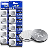 LiCB 10 Stück CR2032 3V Lithium Knopfzellen CR 2032 Batterien