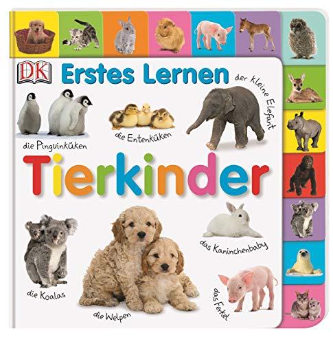 Erstes Lernen. Tierkinder: Pappbilderbuch mit Griff-Register und über 100 Fotos ab 1 Jahr