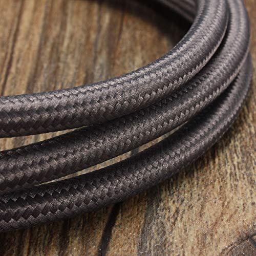 1 M 300 cm 5 m 10 3 Core Vintage Color Twist trenzado tela cable de alambre luz eléctrica DIY lámpara colgante alambres cobre gris 3 m