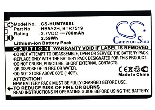 XPS Replacement Battery for METROPCS HWM570 Verge MTC Android Evo MЕГАФОН T261L T-Mobile Pulse Mini Tap Huawei C8000 C8100 E5220 E5331 E5805 EC5805 EC5805 3G EC5808 PN BTR7519 HB5A2H