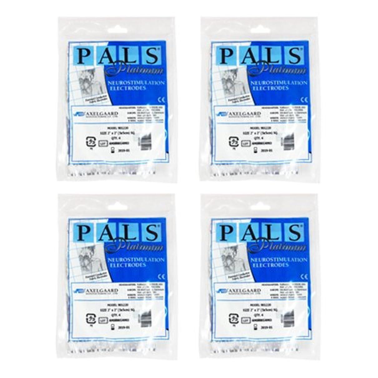破壊的ジュラシックパーク海峡ひも敏感肌用アクセルガード ブルー Mサイズ × 4セット 【EMS用粘着パッド】