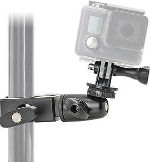 EXSHOW Soporte para GoPro Hero 7 6 5 4 360° Giratorio Camera Soporte para Bicicleta Motocicleta Bike Moto Manillar (Antideslizante abrazadera + Material aleación)