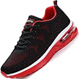 BAOLESEM Sportschuhe Herren Atmungsaktiv Gym Laufschuhe Leichtgewicht Turnschuhe Freizeit Outdoor Sneaker (03 Schwarz Rot, Numeric_42)