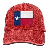 Bandera de Texas Unisex Adulto Denim Papá Gorra de béisbol Deportes Gorra de Vaquero al Aire Libre...